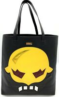 Stella McCartney Super Hero Black Yellow Faux Leather Tote Shopper Bag