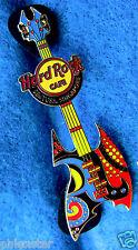 SENTOSA SINGAPORE ABSTRACT ART *DAZZLE* AXE BASS GUITAR  Hard Rock Cafe PIN LE