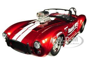"1965 SHELBY COBRA 427 S/C RED ""SNAKE BITE"" 1/24 DIECAST MODEL CAR BY JADA 30705"