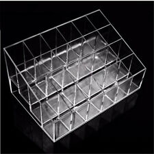 Makeup Lipstick Cosmetic Storage Box Display Rack Holder Organiser Clear Stand