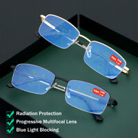 Eyeglasses Reading Glasses Blue Light Blocking Progressive Multifocal