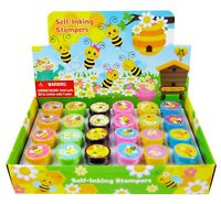 TINYMILLS 24 Pcs Bee Stampers for Kids, Bumble Bee Party Favors