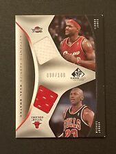 2006-07 SP Game Used Lebron James + Michael Jordan Dual Jersey Card #'d /100