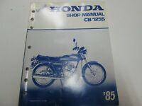 1985 HONDA CB 125S Service Shop Repair Manual Used Factory OEM