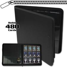 BCW Zipper Z-Folio Black Album 20 12-Pocket Pages