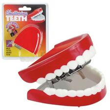 Deluxe Chattering Teeth Classic Wind Up Office Toy Prank Gag Dentures