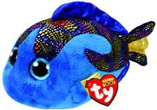 NEW TY BEANIE BOOS MEDIUM -  AQUA THE BLUE FISH 371495