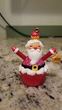 Hallmark 2013 Santa Cupcake  Christmas Ornament  NO BOX