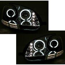 2 PHARES DEVIL EYES VW GOLF 5 & JETTA 3 CHROME ANNEAUX CCFL LED 10/2003-9/2008