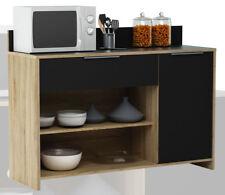 Küchenschrank 223 Schrank Küchenregal Küchenmöbel Singleküche Holz EICHE-schwarz