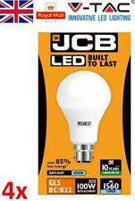 4 x 15w = 100w LED Bayonet / BC B22 GLS Light Bulb Daylight White - JCB 100 Watt