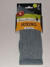 SmartWool Hiking Merino Wool Light Crew Socks Men's Size Large NWT Denim Blue