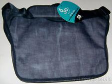"""BYO 12-13"""" Neoprene Laptop Messenger Bag Bell Bottom Blue Compartments Padded"""