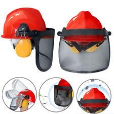 Stirnschutz mit Netz-Visier  Kettensäge Trimmer Flex Gesichtsschutz