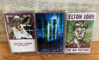 Elton John Greatest Hits Volume 1 & 3 Cassette Lot + The Big Picture