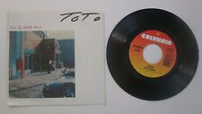 Toto I'll Be Over You b/w In A Word Picture Sleeve 45