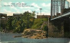 1907-1915 Postcard; The Little Rock for Which City of Little Rock AR was Named