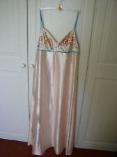 SEXY VINTAGE SATIN NIGHTDRESS WITH SHOESTRING STRAPS SIZE 12-14