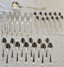 "MENAGERE EN METAL ARGENTE CHRISTOFLE  MODELE ART DECO ""CHEVRON"" 37 PIECES /1"