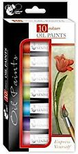 Chiltern Arts 10 Colour Oil Paints - 6ml Tubes