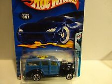 2003 Hot Wheels #57 Blue '40's Woodie w/5 Spoke Wheels