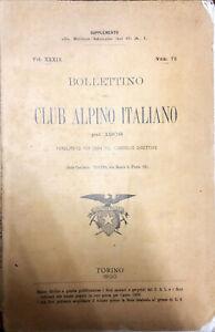 BOLLETTINO DEL CLUB ALPINO ITALIANO PEL 1908 - NUM. 72