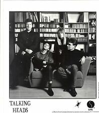 Talking Heads - 1988 Sire records 8 x 10 inch publicity photo
