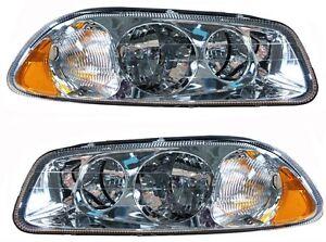 98-11 Mack Vision Left Right Side Clear Len Headlight Lamp Amber Corner
