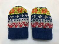 Baby Gap infant mittens mits sweater knit jersey lined 0 3 6 months winter wool