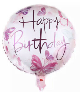 Happy Birthday Butterfly Balloon Party Decorations