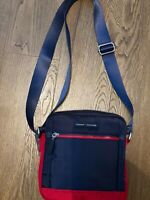 Tommy Hilfiger  - Navy with Red Trim Crossbody Canvas Messenger Bag