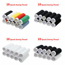 10 Spools Polyester Sewing Cotton Thread Reel for Sewing Machines Home DIY 45.7m