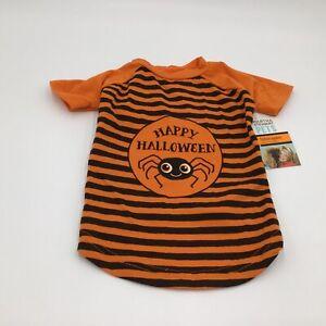 Martha Stewart Happy Halloween Spider Orange Black Striped Shirt Costume