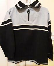 Eland Boys Navy/Lt Blue Half Zip Long Sleeve Cotton Blend Knit Sweater - Size 4