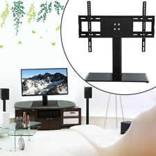 "TOP Glas Universal design TV Standfuß 32-55"" 80-140 LED LCD Halter Halterung RN"