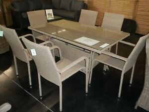 Albany Rattan 6 Seater Rattan Style dining Set Clearance Sale