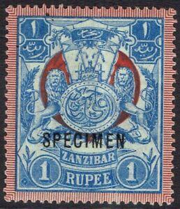 ZANZIBAR 1904 ARMS 1R SPECIMEN