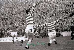 *LOW PRICE* HAND SIGNED CELTIC 12x8 PHOTO 1969 : GEORGE CONNELLY