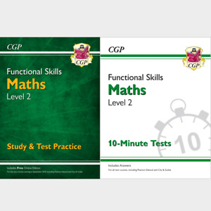 Functional Skills Maths Level 2 Study and Test with Answer CGP