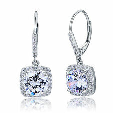 925 Sterling Silver Bridal Bridesmaid Earrings Brilliant Created Diamond FE8122