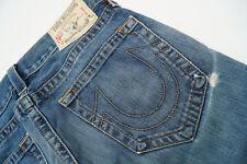 TRUE RELIGION Bobby Herren Men Jeans Hose 31/34 31/36 W31 L34 L36 blau used #50