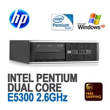 HP Compaq 6000 Pro SFF Desktop PC / Dual Core 2.6 GHz / 4GB DDR3 / Windows XP