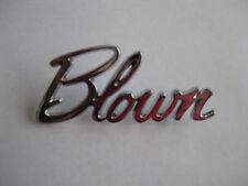 CHROME BLOWN BADGE NEW SUPERCHARGER HOLDEN FORD CHEV HOTROD RATROD CUSTOM