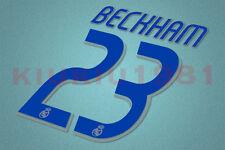 Real Madrid Beckham #23 2006-2007 Homekit Nameset Printing