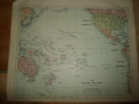 MAP c1920 PACIFIC ISLANDS From Stanfords London Atlas of Universal Geography