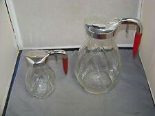 Honey and Syrup jug/ Dispensers Servers With Bakelite Handles Original Vintage