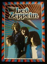 Led Zeppelin Jimmy Page 1989 20th Anniversary Poster Gary Grimshaw Tea Lautrec