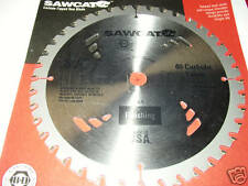 8 1/4 inch, USA FINISHING SAWCAT B&D 40 CARBIDE-TIPPED SAW BLADE MADE IN USA.