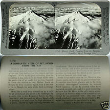 Keystone Stereoview an Aerial View of MOUNT HOOD, OREGON From 600/1200 Card Set