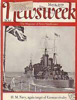 1939 Newsweek May 8 - Britain prepares Draft; Isolation